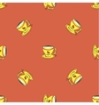 seamless pattern with tea cup vector image vector image