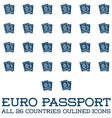 Set of Citizenship or Foreign Passport ID in vector image vector image