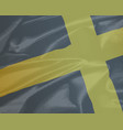 silk flag of saint david vector image vector image