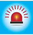 Siren Red Flashing Emergency Light vector image