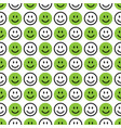 smile icon pattern happy faces on a white vector image vector image