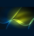 smoky glowing waves in the dark vector image vector image