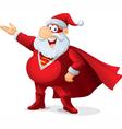Super Santa - Cartoon vector image vector image