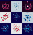 technical blueprint set of digital backgrounds vector image