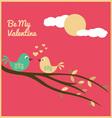 valentine love birds vector image
