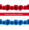 vintage horizontal seamless vignette border set vector image vector image