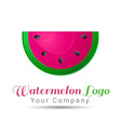 Watermelon Volume Logo Colorful 3d Design vector image vector image