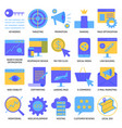 website optimization icon set in flat style vector image