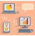 Computer technology communication Internet vector image