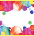multicolored orbs watercolor confetti vector image