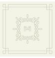 M monogram Frame template vector image