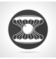 Sea shell black round icon vector image