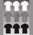 men polo t shirt set vector image