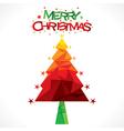 merry christmas tree greeting design vector image