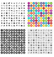 100 business activity icons set variant vector image vector image