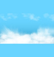 3d abstract blue sky and white clouds vector image vector image