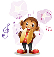 A musical monkey vector image vector image