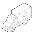 Ambulance icon outline style vector image vector image