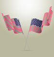 American flags vector image vector image