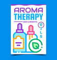 aromatherapy creative promotional poster vector image vector image