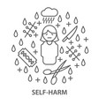 banners for self harm vector image vector image