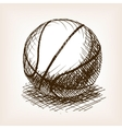 Basketball hand drawn sketch style vector image vector image
