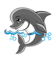 beautiful cheerful dolphin vector image vector image