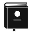 book encyclopedia icon simple black style vector image