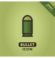 bullet icon vector image