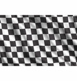 car rally racing 3d realistic flag vector image vector image