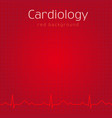 cardiology red background vector image vector image