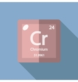 Chemical element Chromium Flat vector image vector image