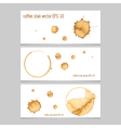 coffee stain watercolor banner vector image vector image