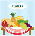 colorful flat fruit concept vector image vector image
