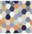 Colorful Patchwork Seamless Patterns vector image vector image