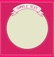 cute red and purple frame template vector image
