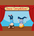 Dance comptition people breakdancing