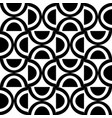decorative geometric pattern black and white vector image