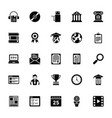 elearning glyph icons vector image vector image