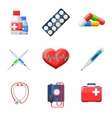 Flat medical icons vector image