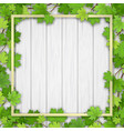 frame maple tree on wooden background vector image vector image