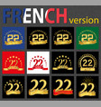 french set of number 22 templates vector image vector image