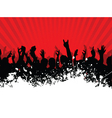 grunge crowd vector image vector image
