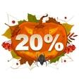 Halloween discount coupon of 20 percent Halloween vector image vector image