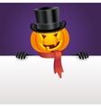 Halloween invitation with pumpkin vector image vector image
