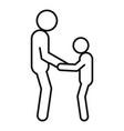 kid help senior man icon outline style vector image
