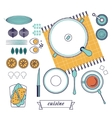 kitchen still life set vector image