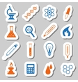 laboratory stickers vector image vector image