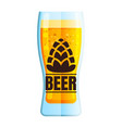 lager beer icon beer glass with beer isolated vector image vector image