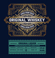 liquor label vintage design retro vector image vector image
